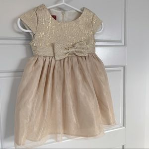 Princess Faith Gold Formal Dress size 18 months